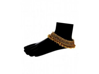 Check out collection of designer anklets or gold payal for girls