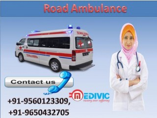 Hire Top and Best Road Ambulance Service in Indira Nagar with Medical Team