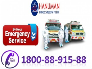 Take Top Class Road Ambulance Service in Mokama by Hanuman Ambulance