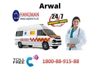 Call for (1800-88-915-88) Road Ambulance Service in Arwal
