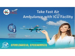 Stunning Air Ambulance from Bangalore with Medical Facility by King