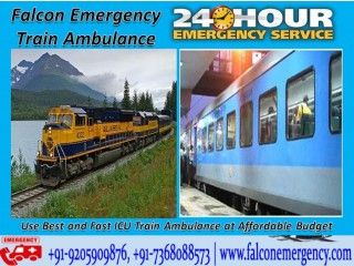 Use Falcon Emergency Train Ambulance in Patna with ICU Expert Paramedic Team