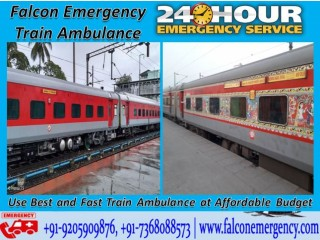 Use Fastest Train Ambulance Services in Varanasi by Falcon Emergency