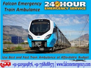 Use Train Ambulance Services in Bagdogra with ICU Facility by Falcon Emergency