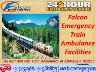 Get Falcon Safest Train Ambulance Facilities in Patna with Emergency Services