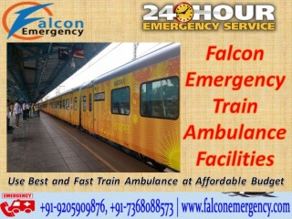 Get Falcon Train Ambulance Facilities in Ranchi for Emergency Patient Shifting