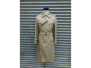 Vintage burberry trenchcoat raincoat mac coat rain mens classic with Nova liner
