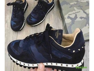 Valentino Rock Runners Rock Studs Blue Camo