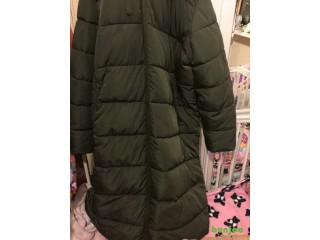Wow brand new lady's coat XL size long one olive colour