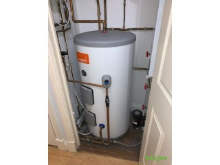 HEATRAE SADIA MEGAFLO ECO 145DD DIRECT UNVENTED HOT WATER CYLINDER 145LTR 2 X 3KW -Fully Functioning