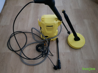 Karcher K2 pressure washer with all attachments in very good condition