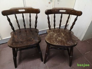 2 X. Dining room wooden chairs