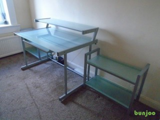Office Desk & Two Matching Bookcases