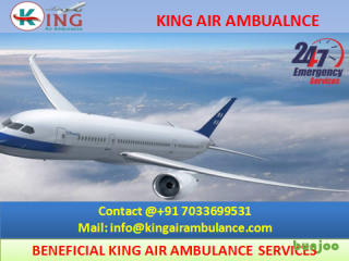 Pick Top Class Emergency Air Ambulance Services in Lucknow by King