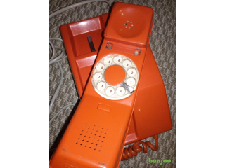 Vintage retro orange dial phone £20