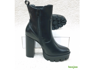 Chunky platform ladies boots
