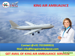 Get High Class Air Ambulance from Bhopal at Low price by King