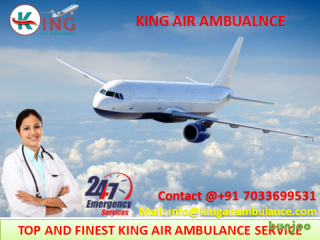 Get Most Economical Air Ambulance from Dibrugarh with Doctor by King