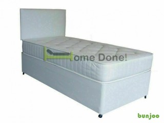 *14-DAY MONEY BACK GUARANTEE!** NICE Single Divan Bed with Orthopaedic Mattress - NEXT DAY DELIVERY