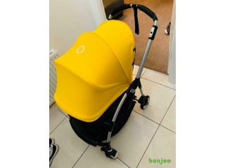 New likely Bugaboo Bee 3 2016 mode + footmuff + raincover stroller / Pushchair/ Pram sunrise yellow