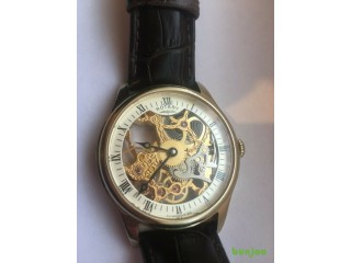 Mens Rotary GS02520/03 Gold Tone Skeleton Watch
