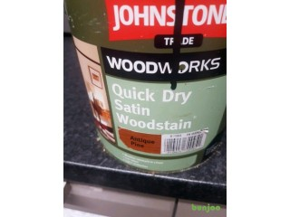 Paint Johnstones Quick Drying Satin Woodstain Antique Pine 2.5 litres