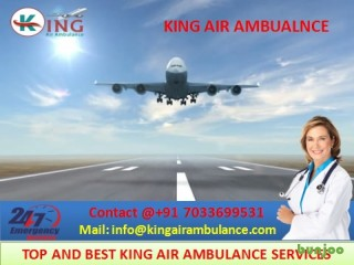 Take Finest Emergency Air Ambulance Services in Lucknow by King