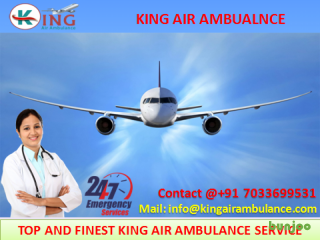 Get on Low Cost Advanced Air Ambulance in Dibrugarh by King