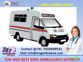 Take on Rent Best Ambulance in Bokaro with Doctor by King