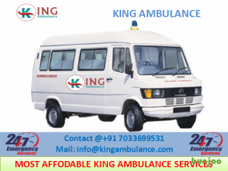 Finest Road Ambulance in Dhanbad with Medical Team by King