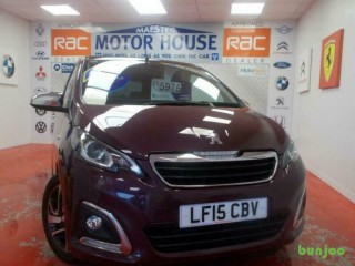 Peugeot 108 ALLURE TOP(£0.00 ROAD TAX) FREE MOT'S AS LONG AS YOU OWN THE CA