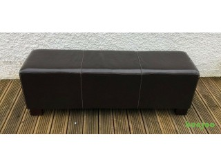 Dark Brown Faux Leather Seater