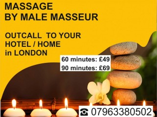 SIGNATURE ►MASSAGE FOR MEN BY ►MALE MASSEUR Out-call to your HOTEL- HOME in London.