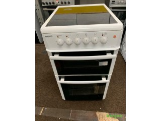 BEKO white good looking 50cm electric cooker with oven grill