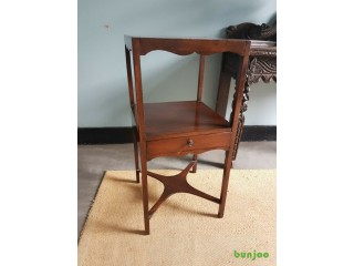 Vintage Tall Side Table / Telephone Hall Stand with Drawer