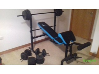 Weights bench and full set of weights