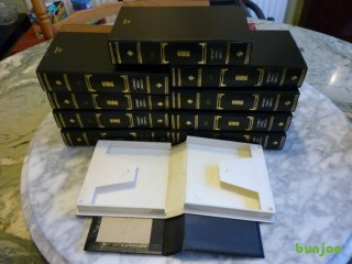 Beautiful ten double sided library cases for 5 inch reel to reel tape recorder,all ten fits 20 tapes