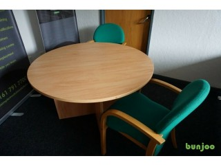 Quality Office furniture for Sale- Sm round table/2x chairs/Desk and Pedestal/Filing Cab/6' Cupboard