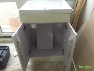 Brand new vanity unit with sink