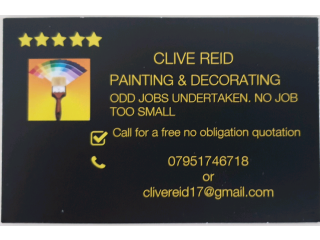 Clive Reid painting and decorating services