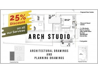 25% Discount on our architectural Services/ Start from £220/Structural Engineer/Drawings/ plan