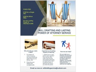 Will drafting service and Lasting Power of Attorneys
