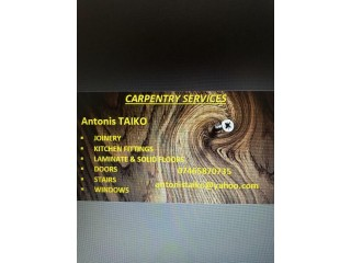 Carpentry & Joinery Services