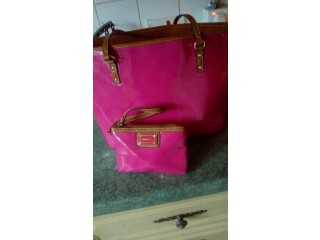NINE WEST pink patent bag and coin purse Tunbridge Wells