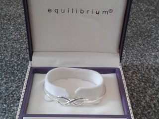 EQUILIBRIUM SILVER PLATED BANGLE