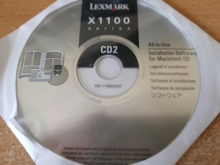 Lexmark X1100 Series Installation CD software for Macintosh OS