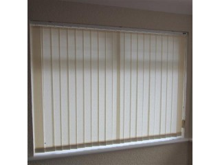 4 Sets of Made to Measure Vertical Fabric Window Blind Slats in Magnolia Pattern - Brand New!