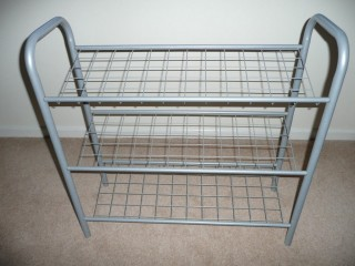 Silver Metal Shoe Rack