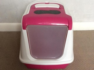 Cat litter tray, hooded loo
