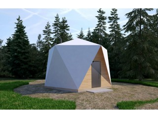 Insulated Geodesic Dome Pasive House 30 m2